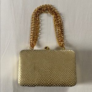 Steve Madden Gold Mini Purse With Chain